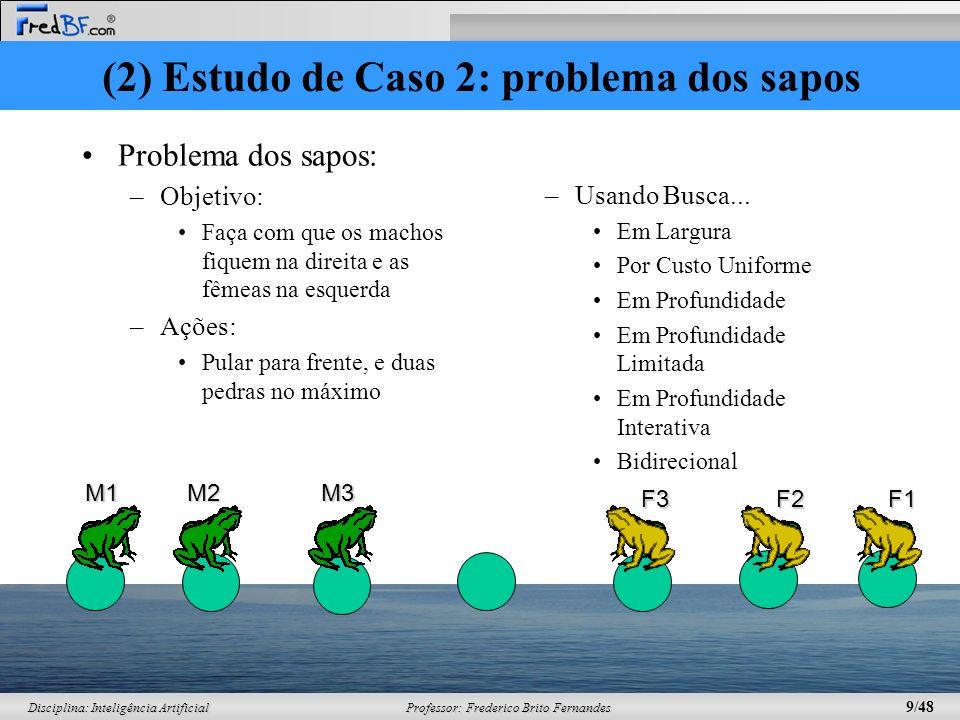 (2) Estudo de Caso 2: problema dos sapos