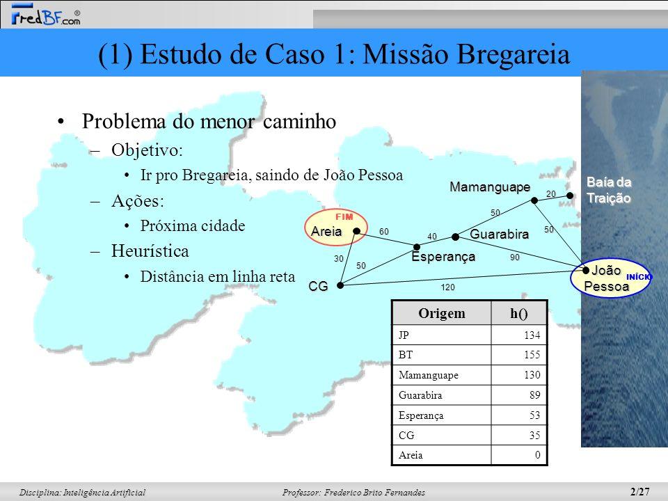 (1) Estudo de Caso 1: Missão Bregareia