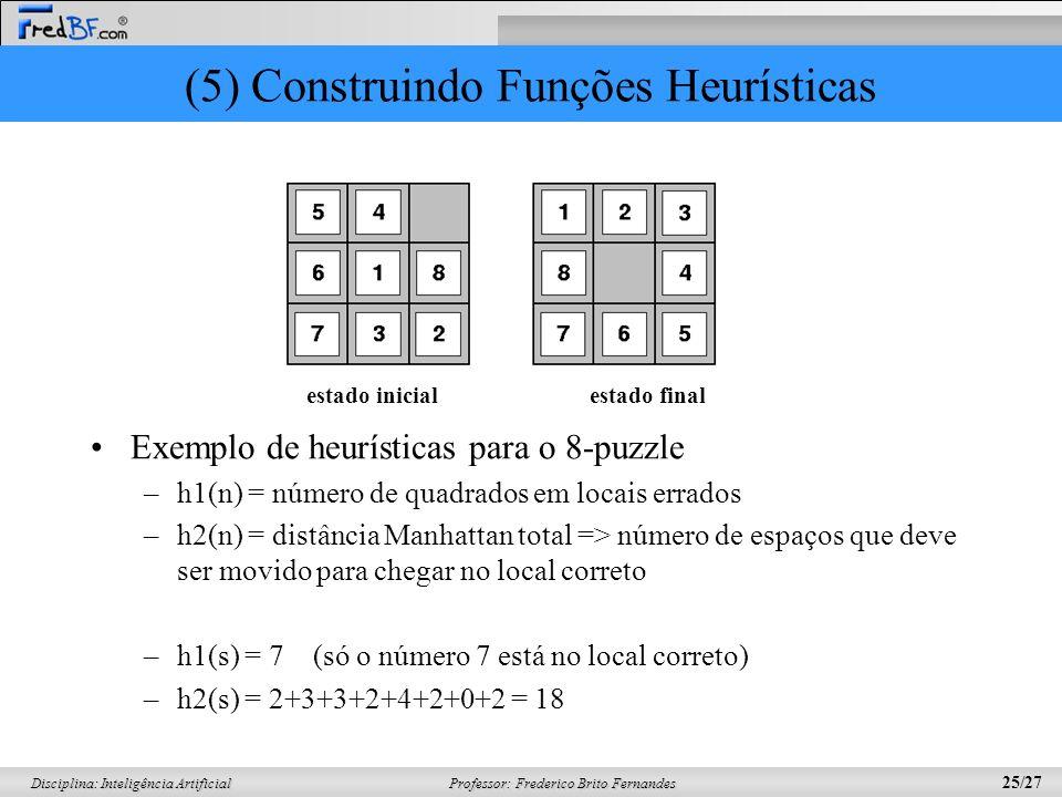 (5) Construindo Funções Heurísticas
