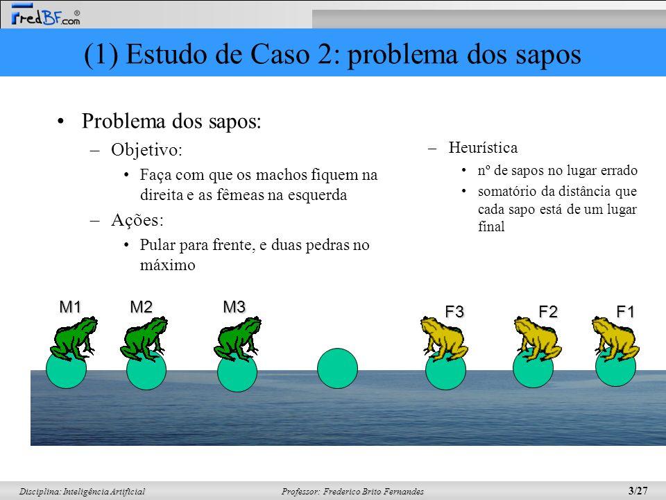 (1) Estudo de Caso 2: problema dos sapos