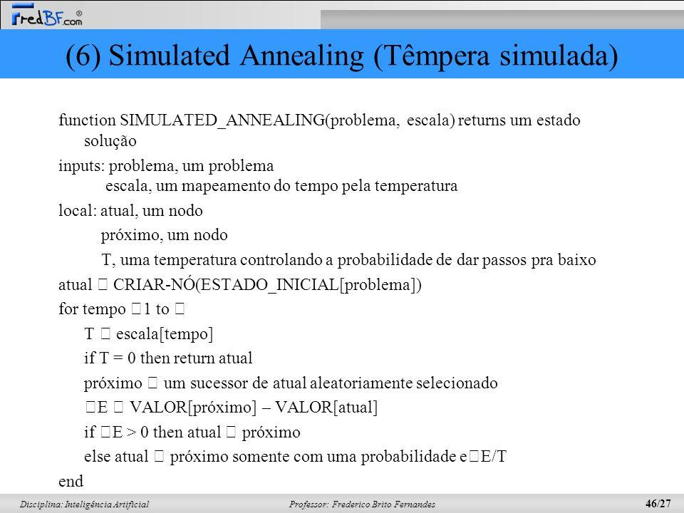 (6) Simulated Annealing (Têmpera simulada)