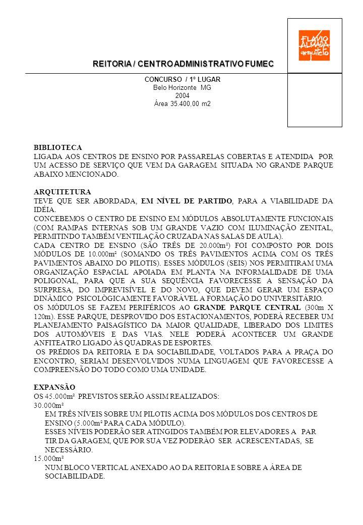 REITORIA / CENTRO ADMINISTRATIVO FUMEC