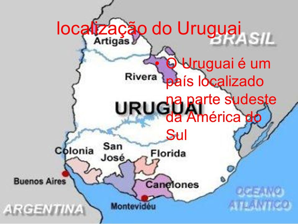 localização do Uruguai