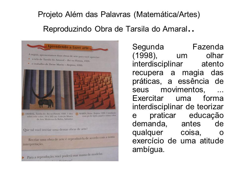 Projeto Além das Palavras (Matemática/Artes) Reproduzindo Obra de Tarsila do Amaral..