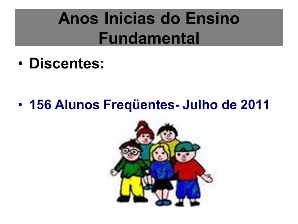 Anos Inicias do Ensino Fundamental
