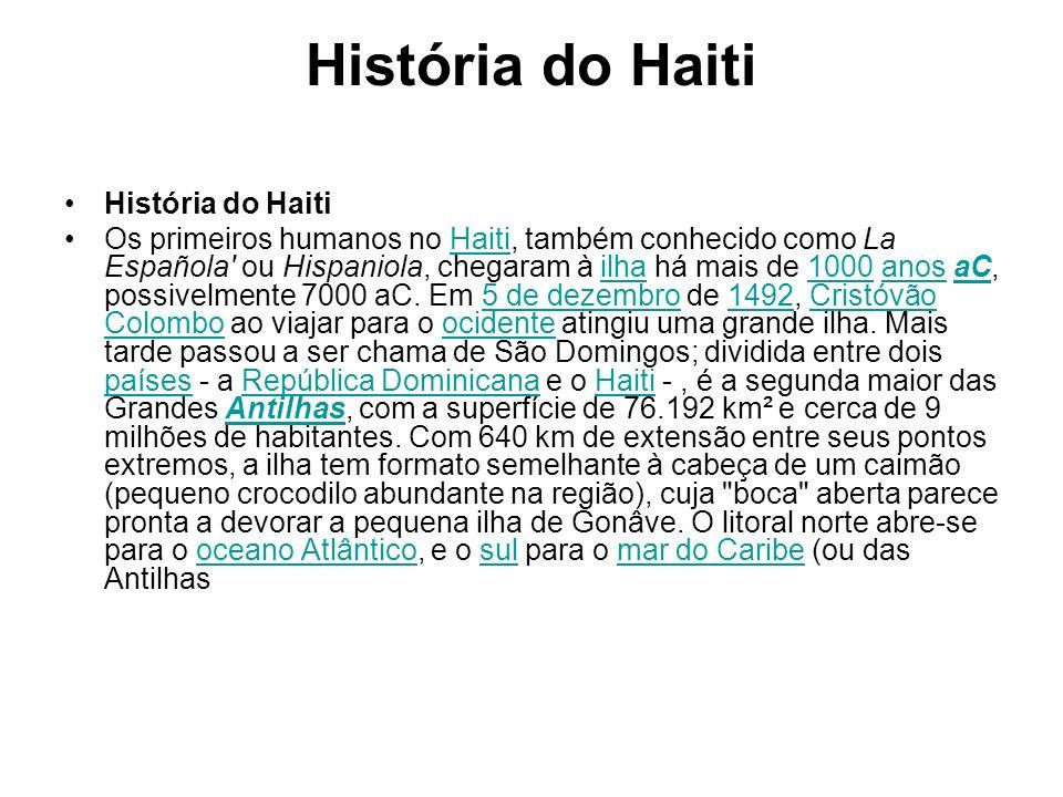História do Haiti História do Haiti