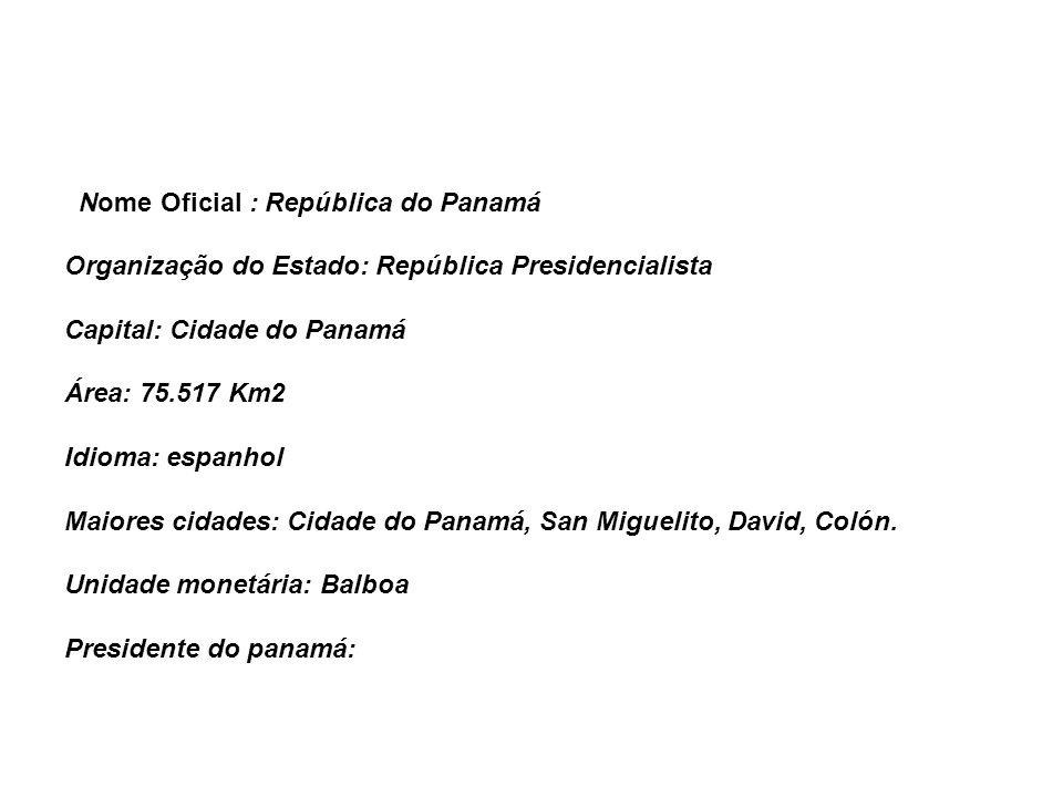 Nome Oficial : República do Panamá