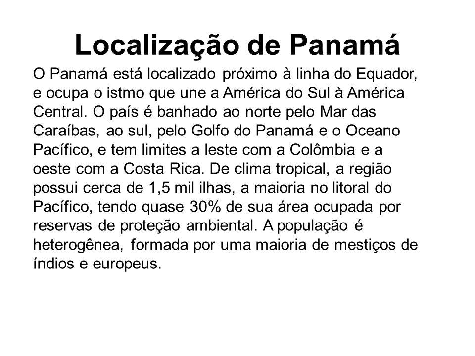Localização de Panamá