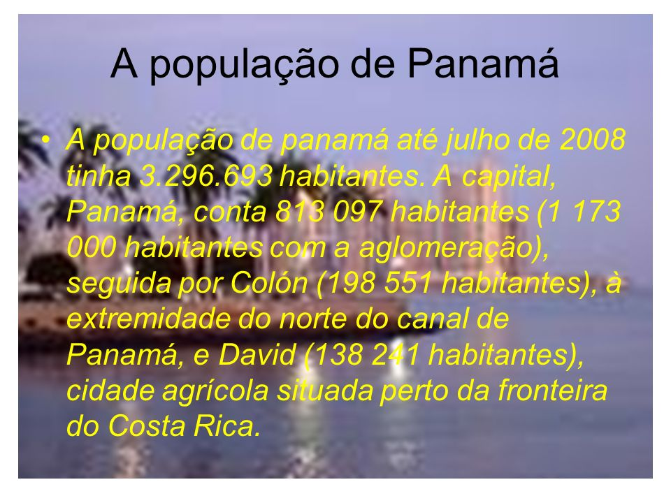 A população de Panamá