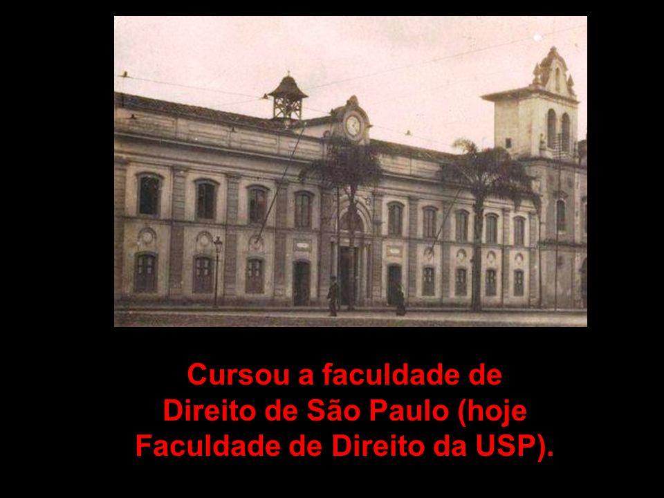 Direito de São Paulo (hoje Faculdade de Direito da USP).