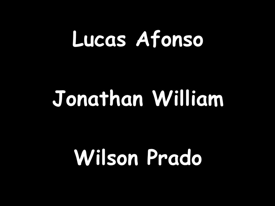 Lucas Afonso Jonathan William Wilson Prado
