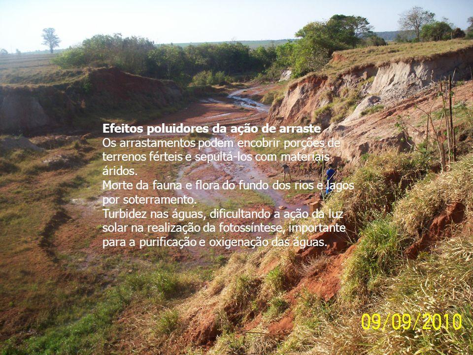 Efeitos poluidores da ação de arraste