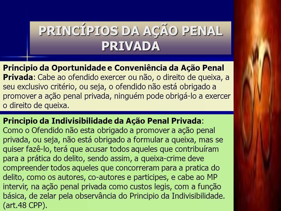 PRINCÍPIOS DA AÇÃO PENAL PRIVADA