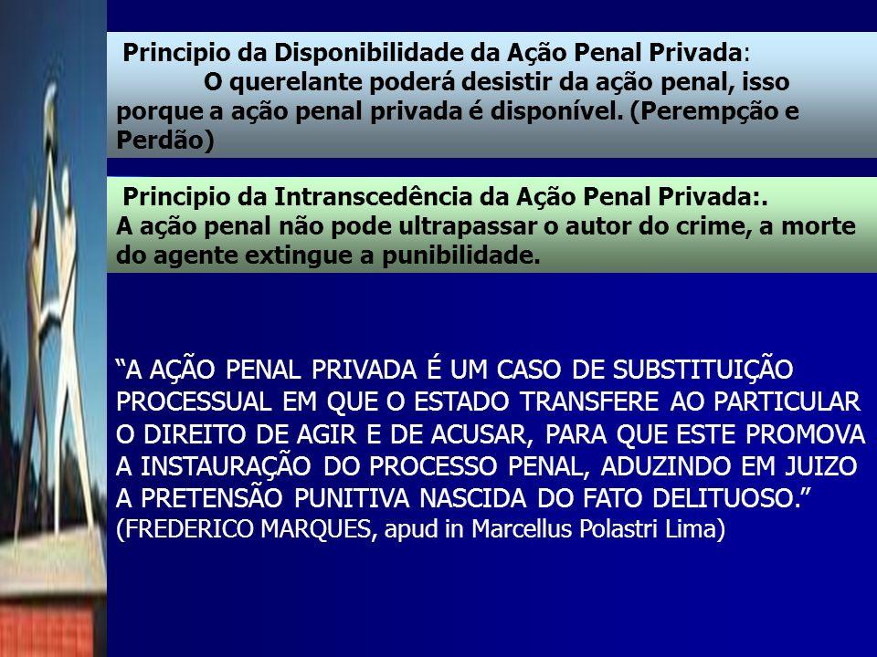 Principio da Disponibilidade da Ação Penal Privada: