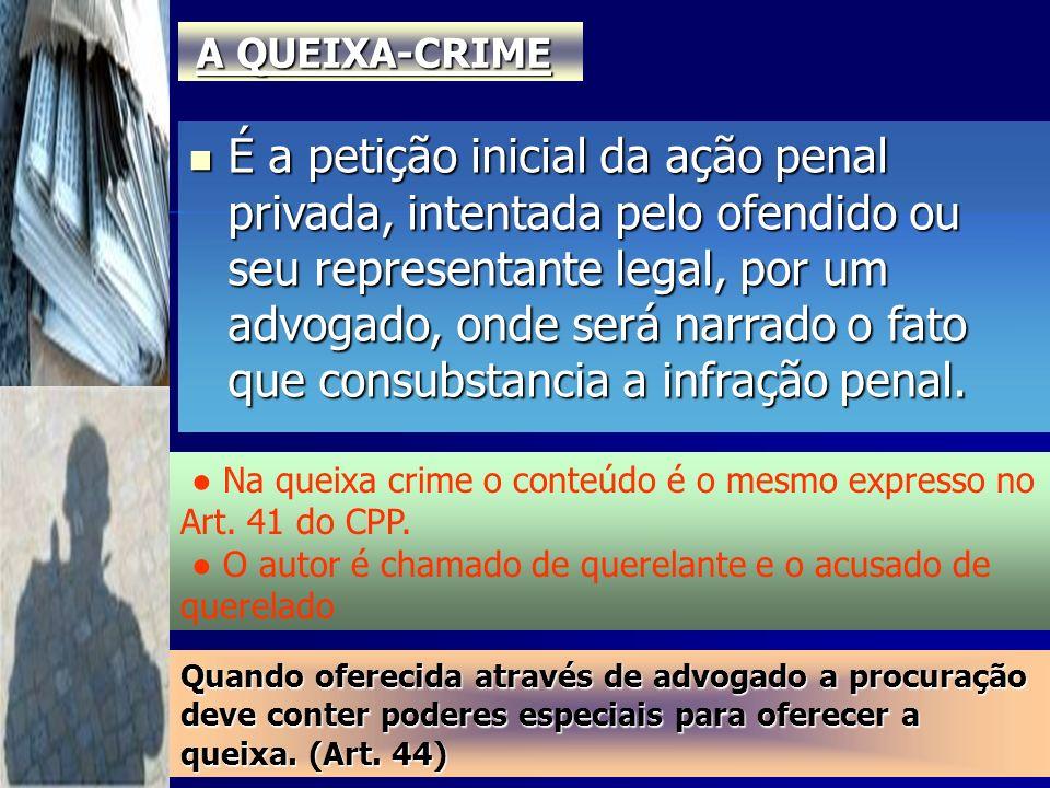 A QUEIXA-CRIME