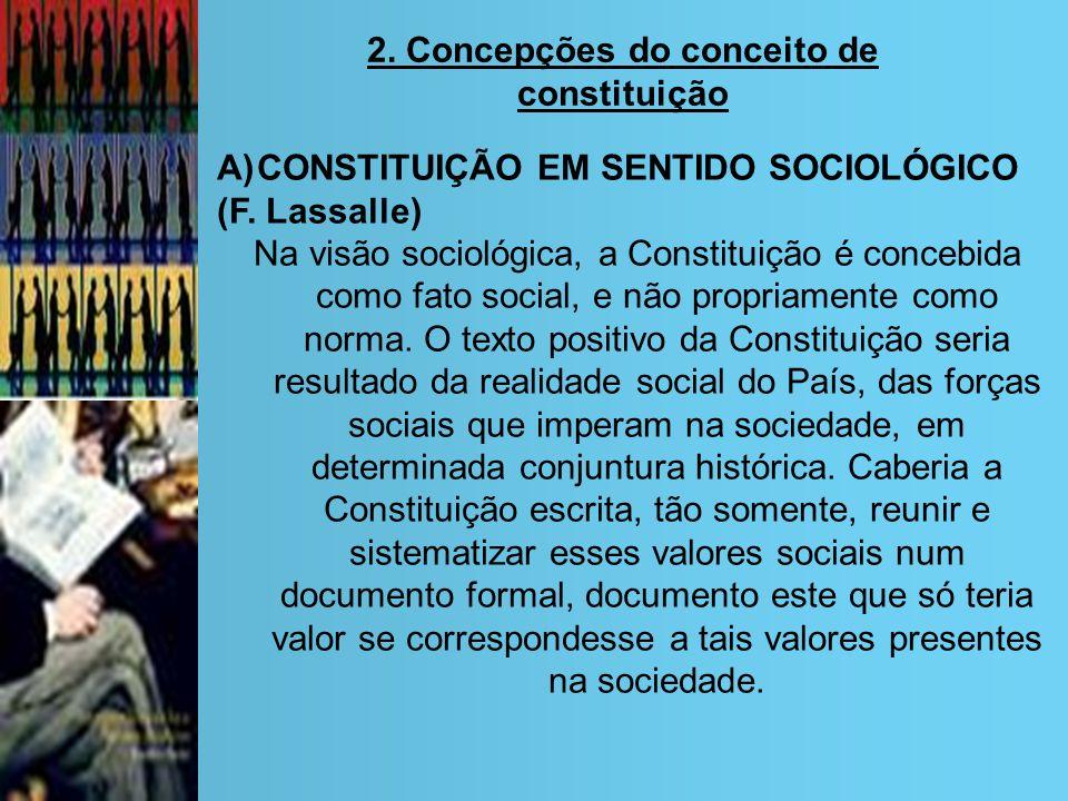 2. Concepções do conceito de constituição