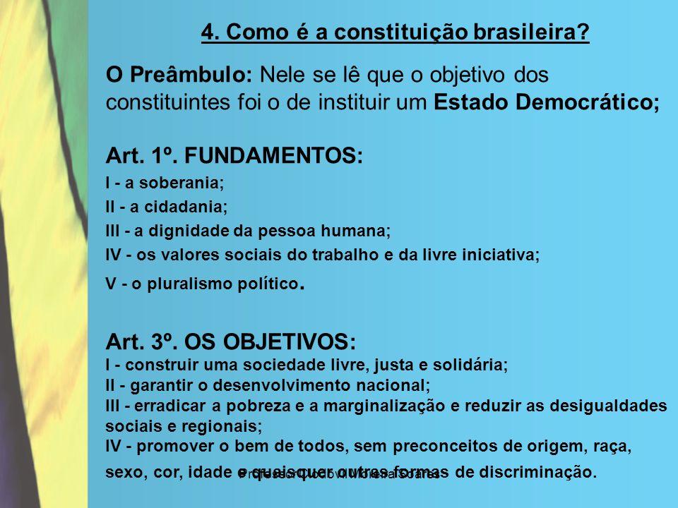 4. Como é a constituição brasileira