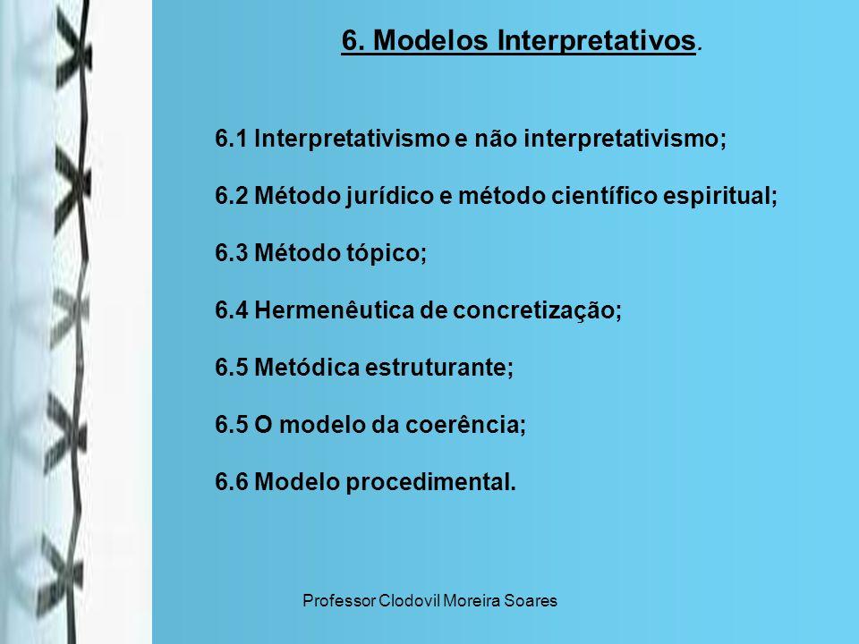 6. Modelos Interpretativos.