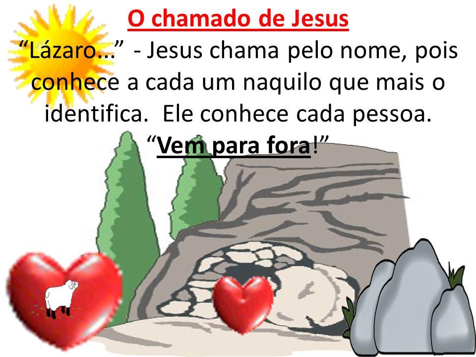 O chamado de Jesus Lázaro