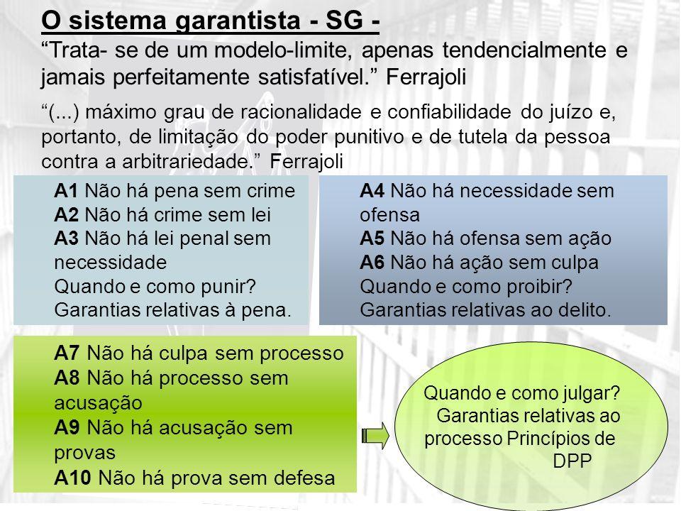 O sistema garantista - SG -