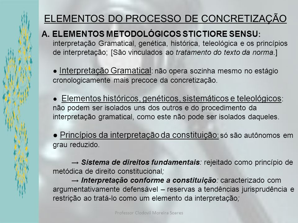 Professor Clodovil Moreira Soares