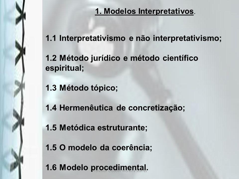1. Modelos Interpretativos.