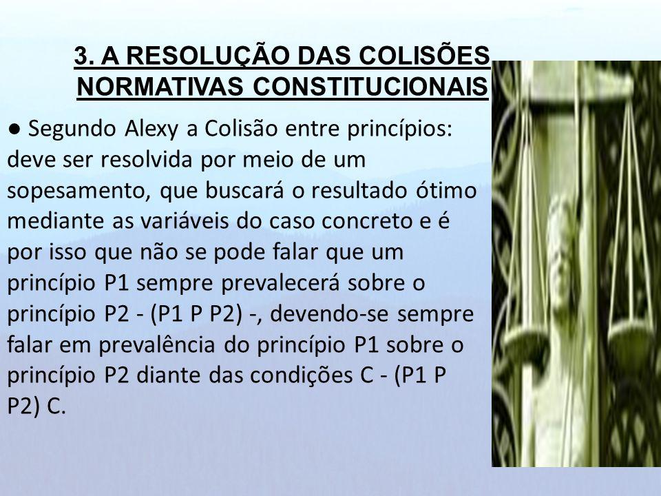 3. A RESOLUÇÃO DAS COLISÕES NORMATIVAS CONSTITUCIONAIS