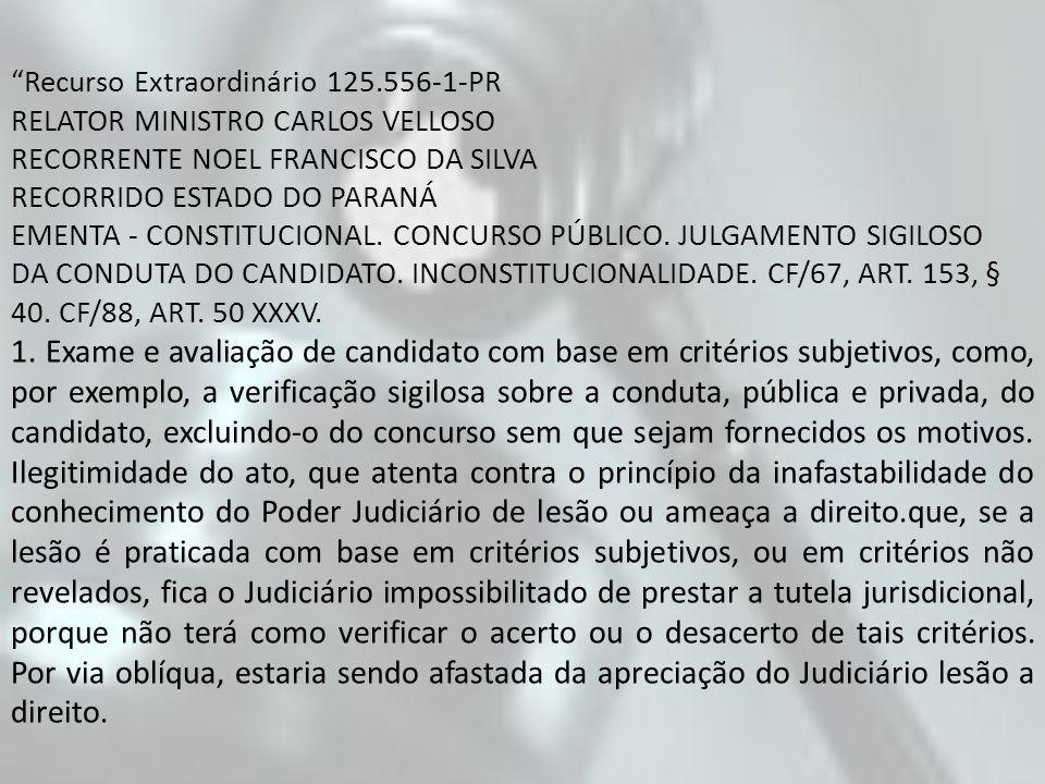 Recurso Extraordinário 125.556-1-PR