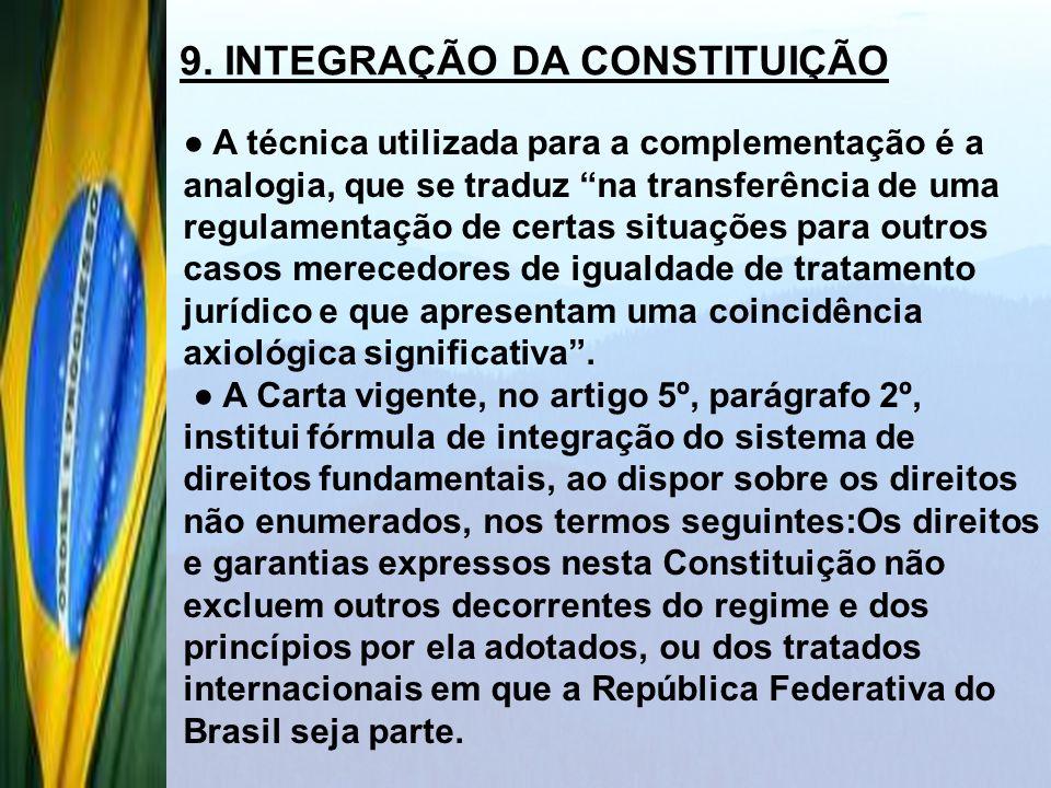 9. INTEGRAÇÃO DA CONSTITUIÇÃO