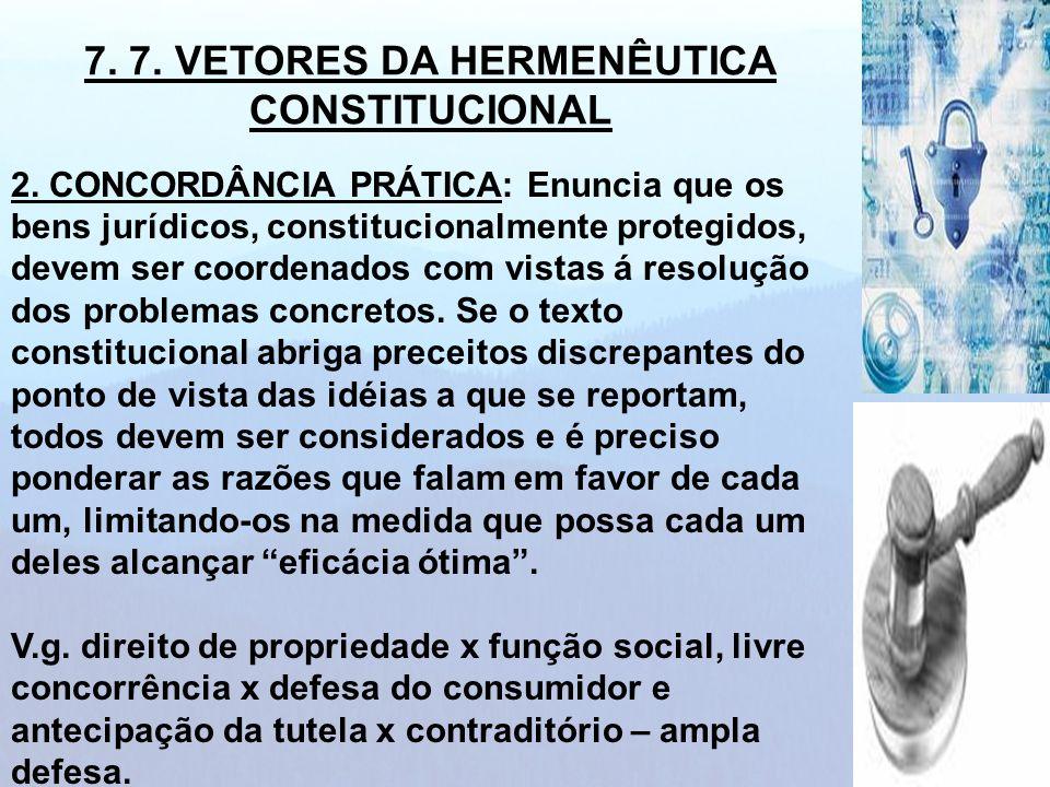 7. 7. VETORES DA HERMENÊUTICA CONSTITUCIONAL