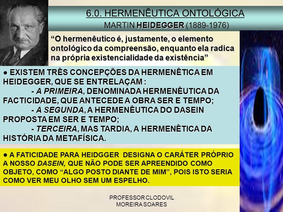 6.0. HERMENÊUTICA ONTOLÓGICA MARTIN HEIDEGGER (1889-1976)