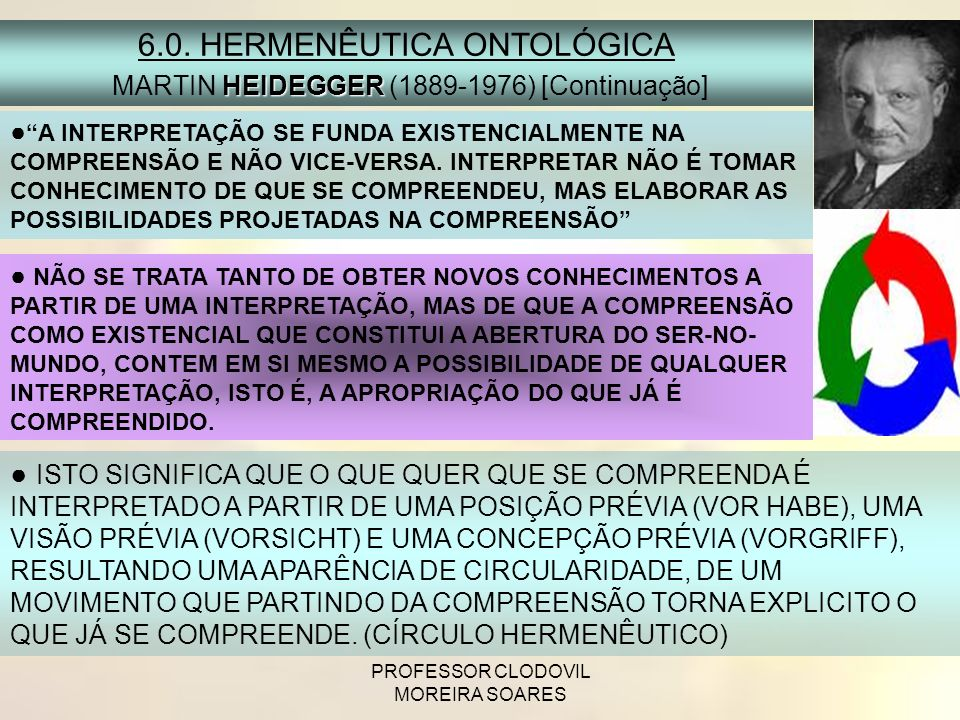 6.0. HERMENÊUTICA ONTOLÓGICA
