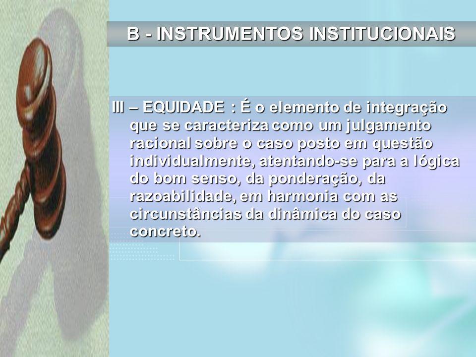 B - INSTRUMENTOS INSTITUCIONAIS