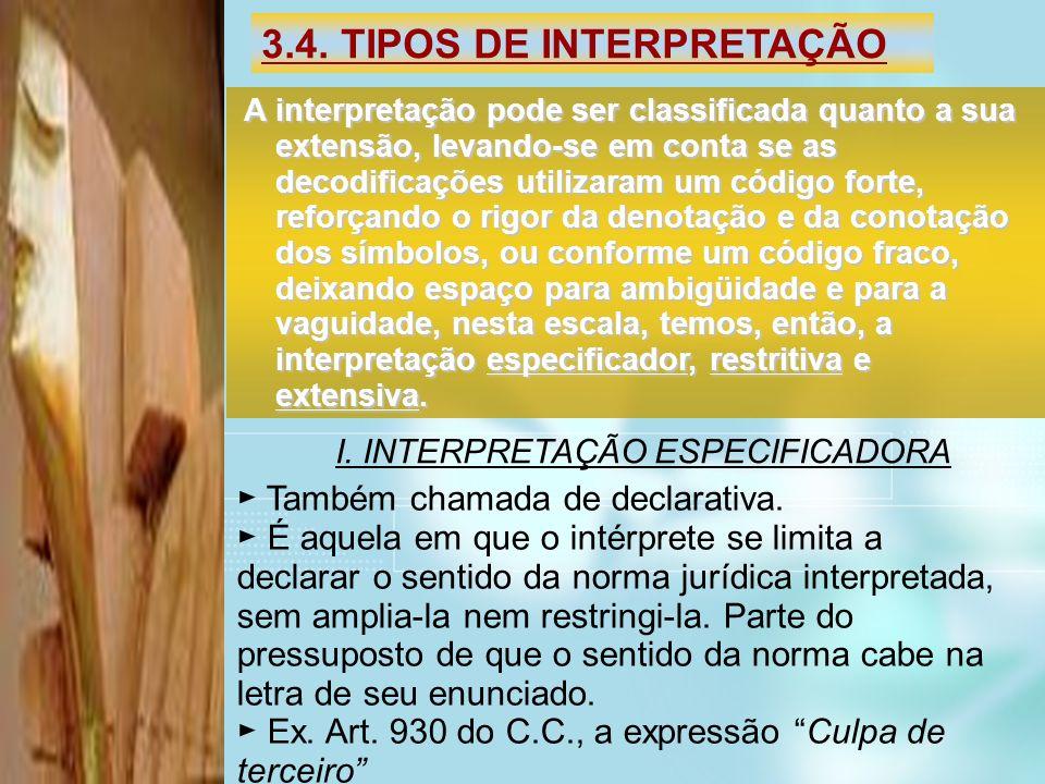 3.4. TIPOS DE INTERPRETAÇÃO