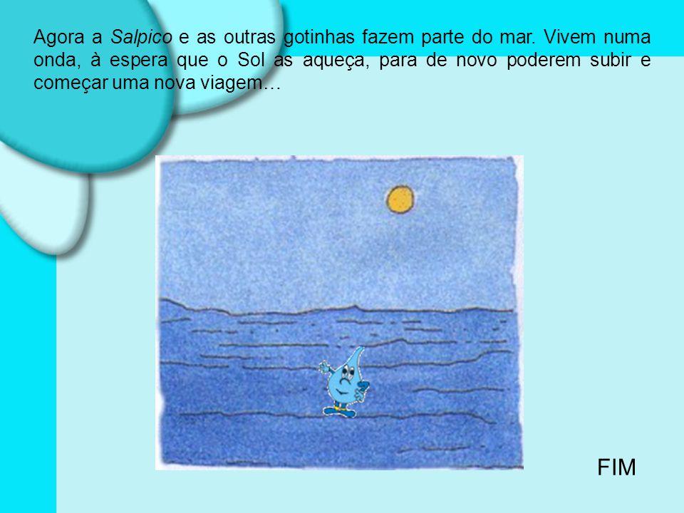 Agora a Salpico e as outras gotinhas fazem parte do mar
