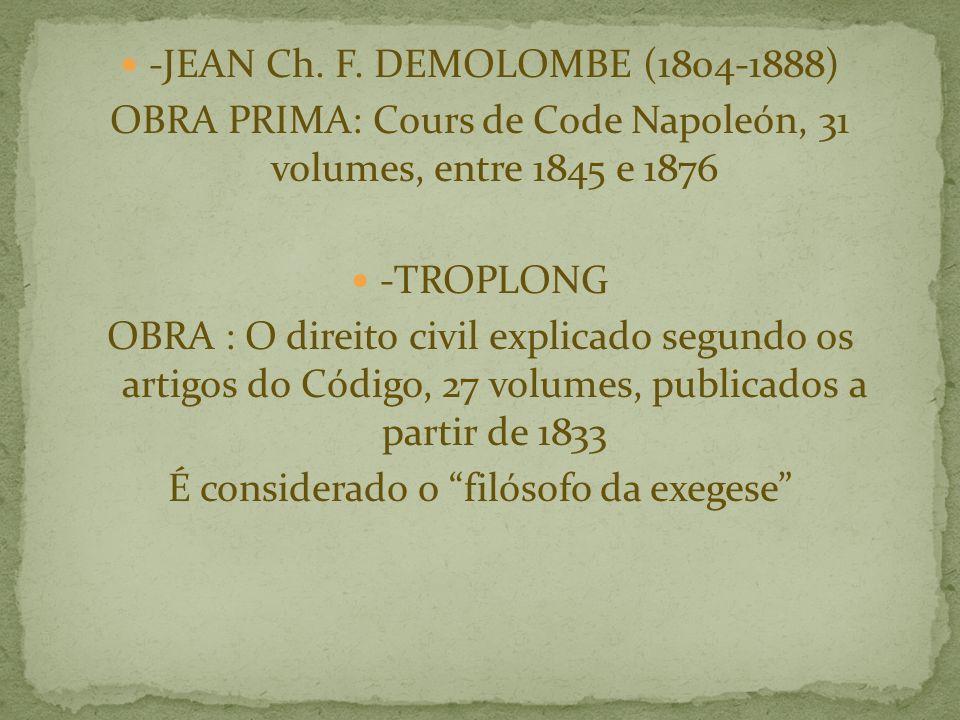 -JEAN Ch. F. DEMOLOMBE (1804-1888)