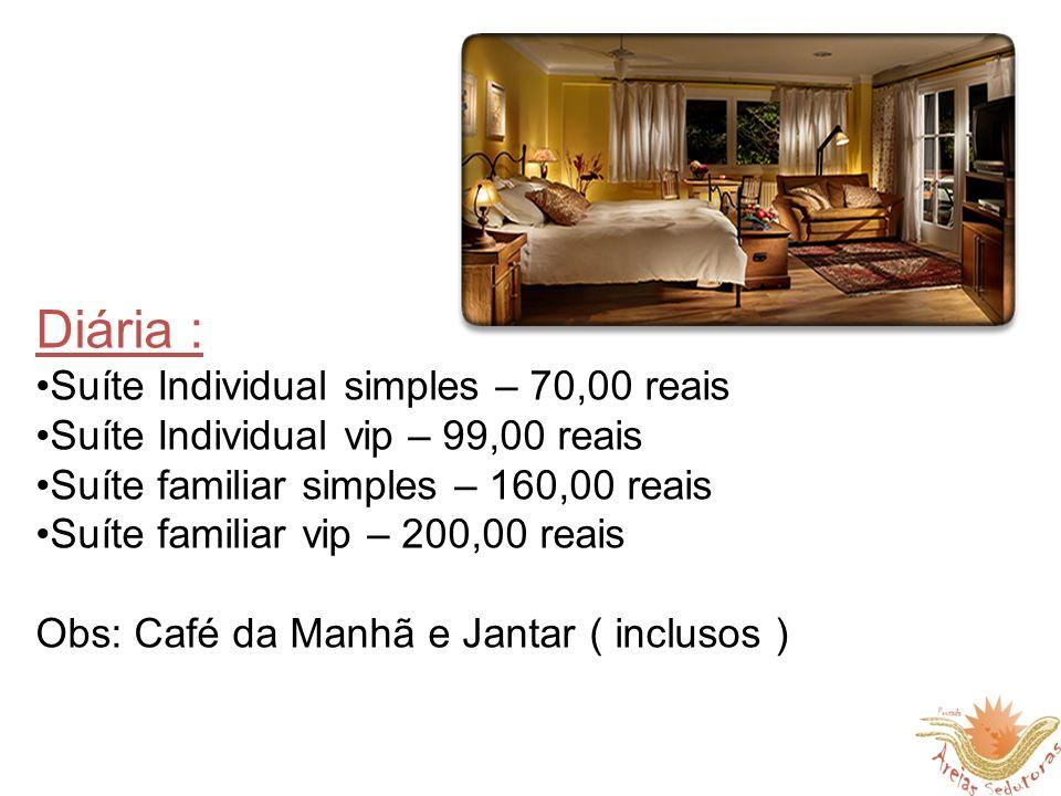 Diária : Suíte Individual simples – 70,00 reais