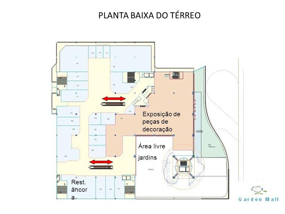 PLANTA BAIXA DO TÉRREO Exposição de peças de decoração Área livre