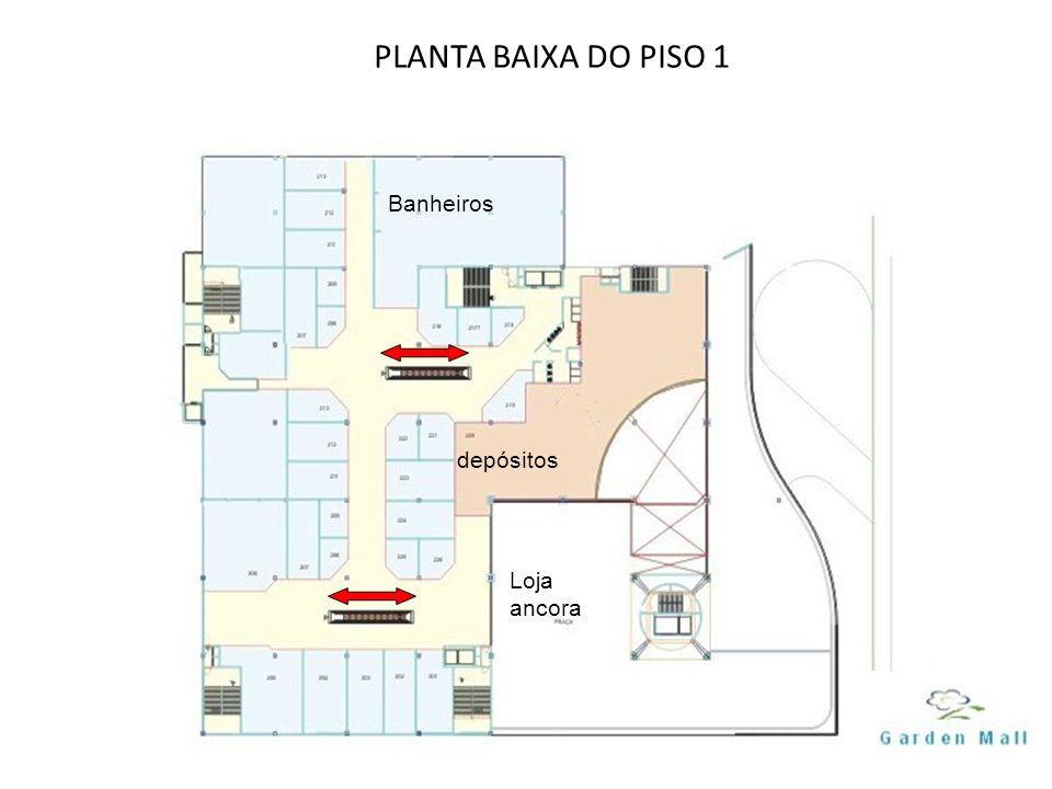 PLANTA BAIXA DO PISO 1 Banheiros depósitos Loja ancora