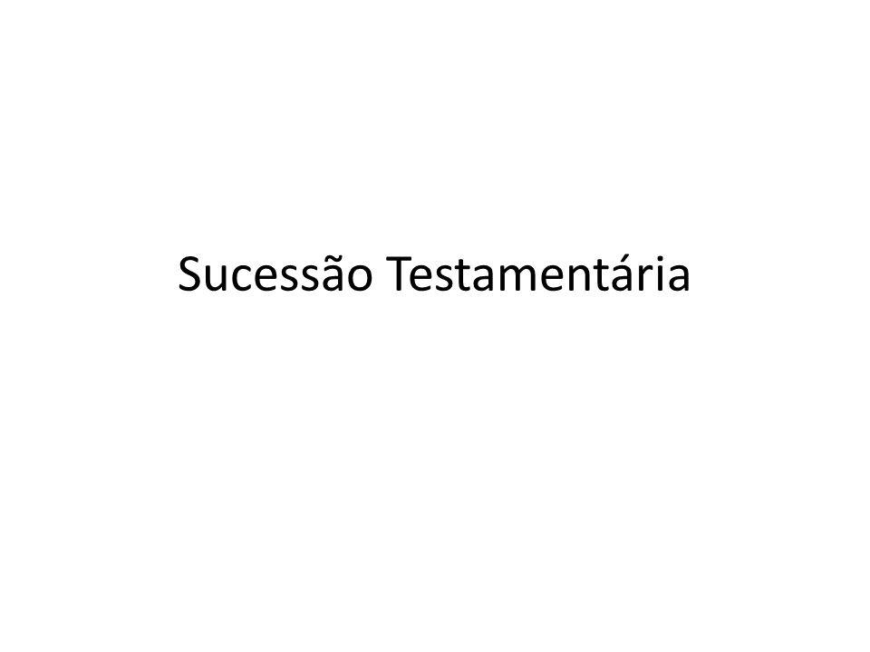 Sucessão Testamentária