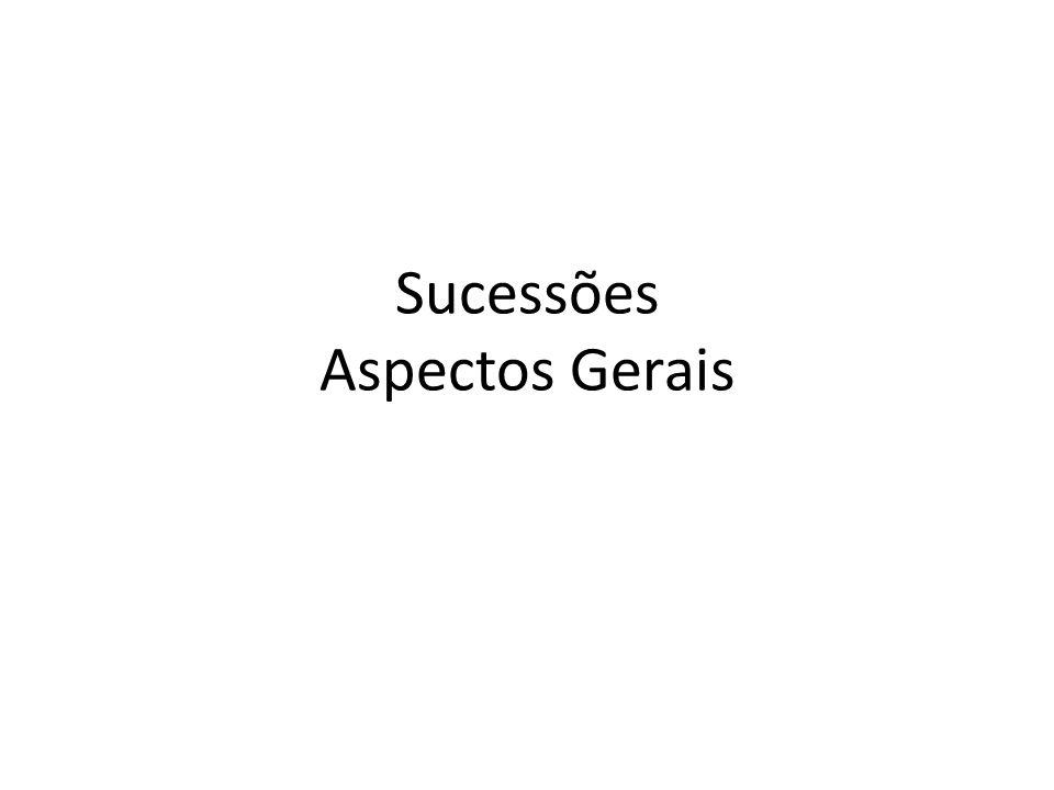 Sucessões Aspectos Gerais