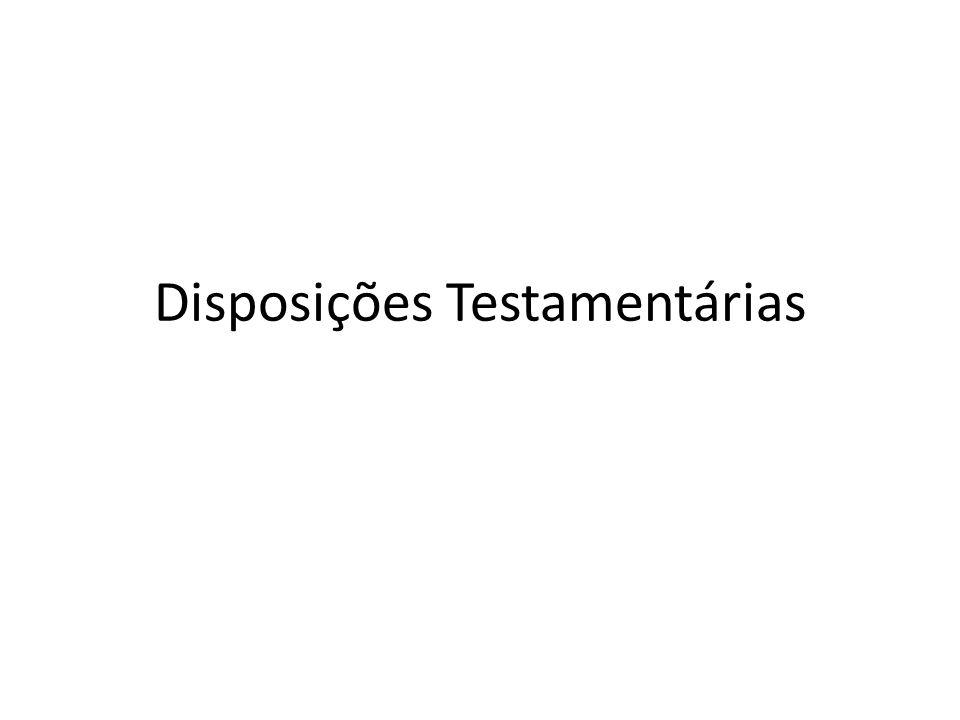 Disposições Testamentárias