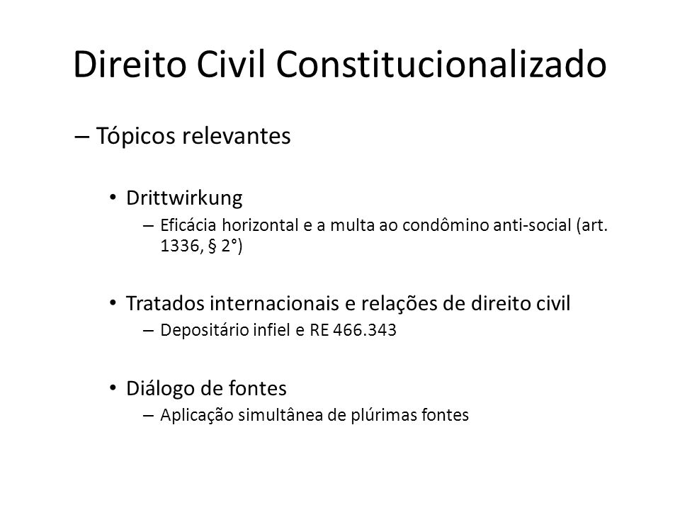 Direito Civil Constitucionalizado