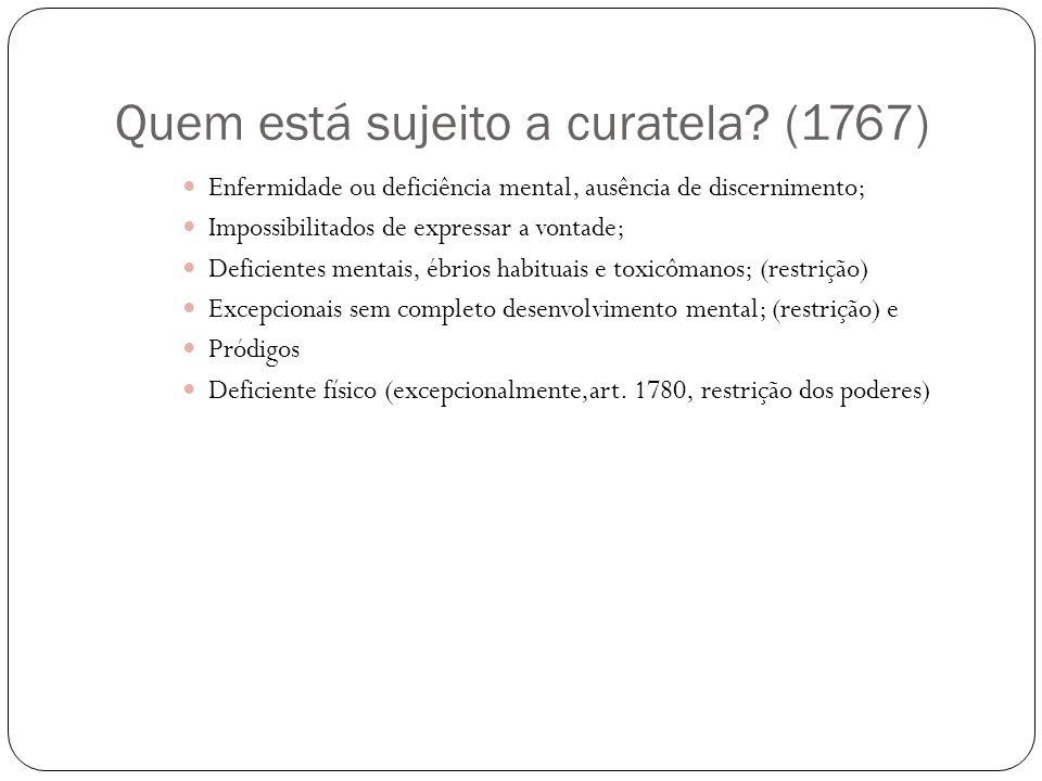 Quem está sujeito a curatela (1767)