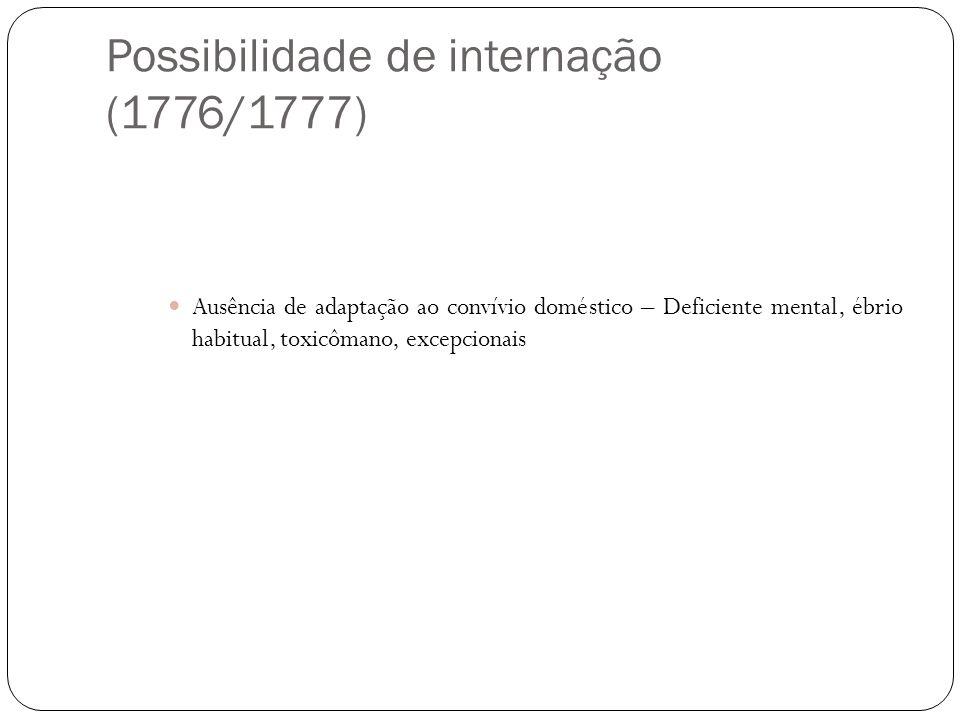 Possibilidade de internação (1776/1777)