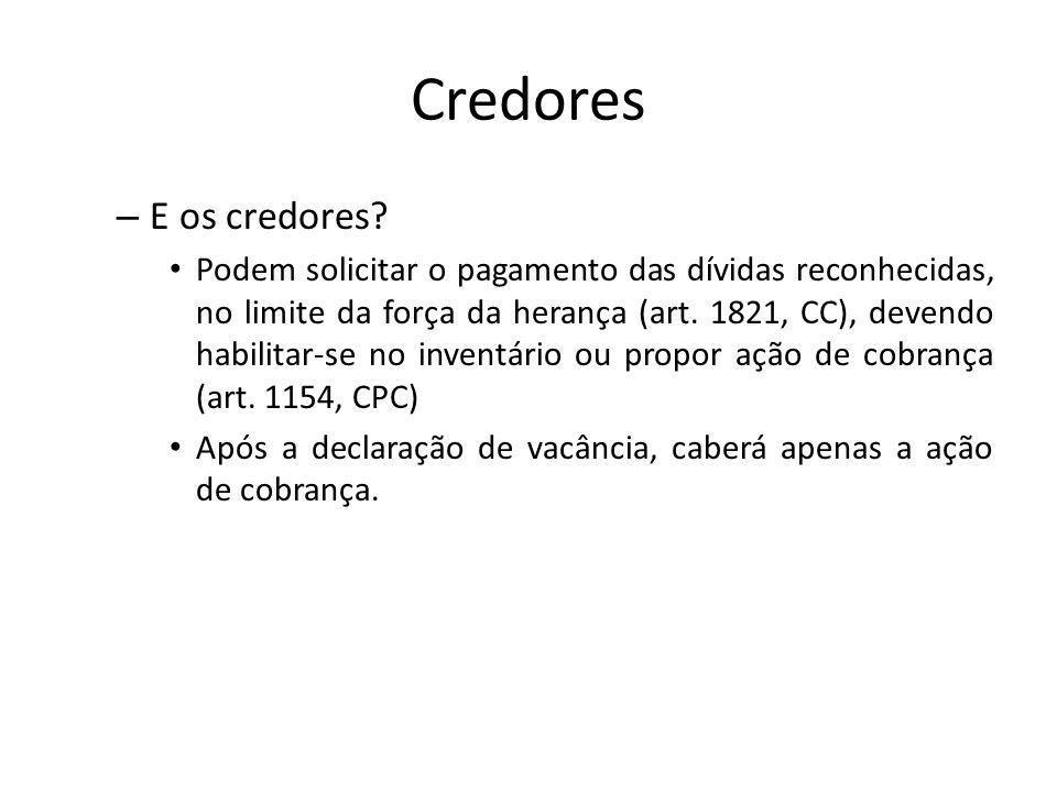 Credores E os credores