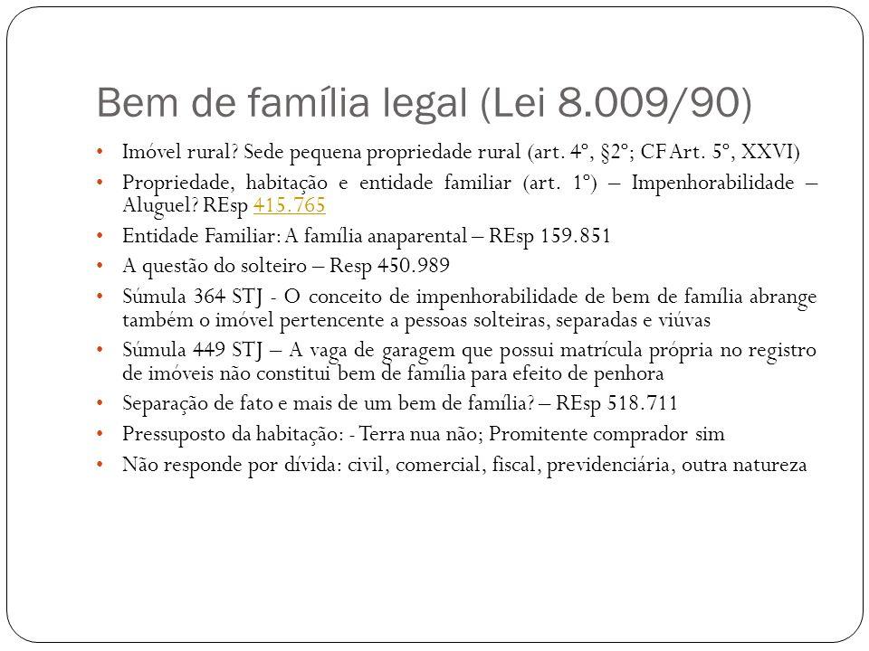 Bem de família legal (Lei 8.009/90)
