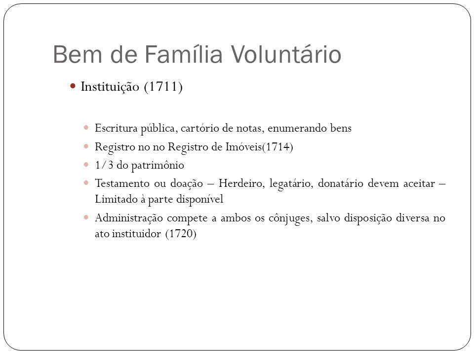 Bem de Família Voluntário