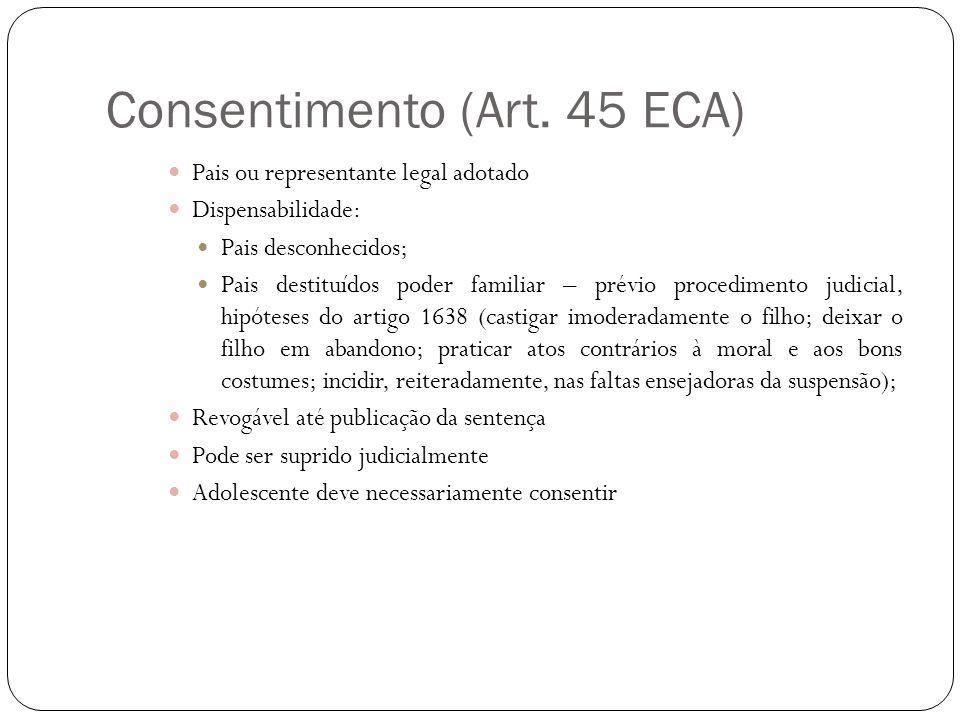 Consentimento (Art. 45 ECA)