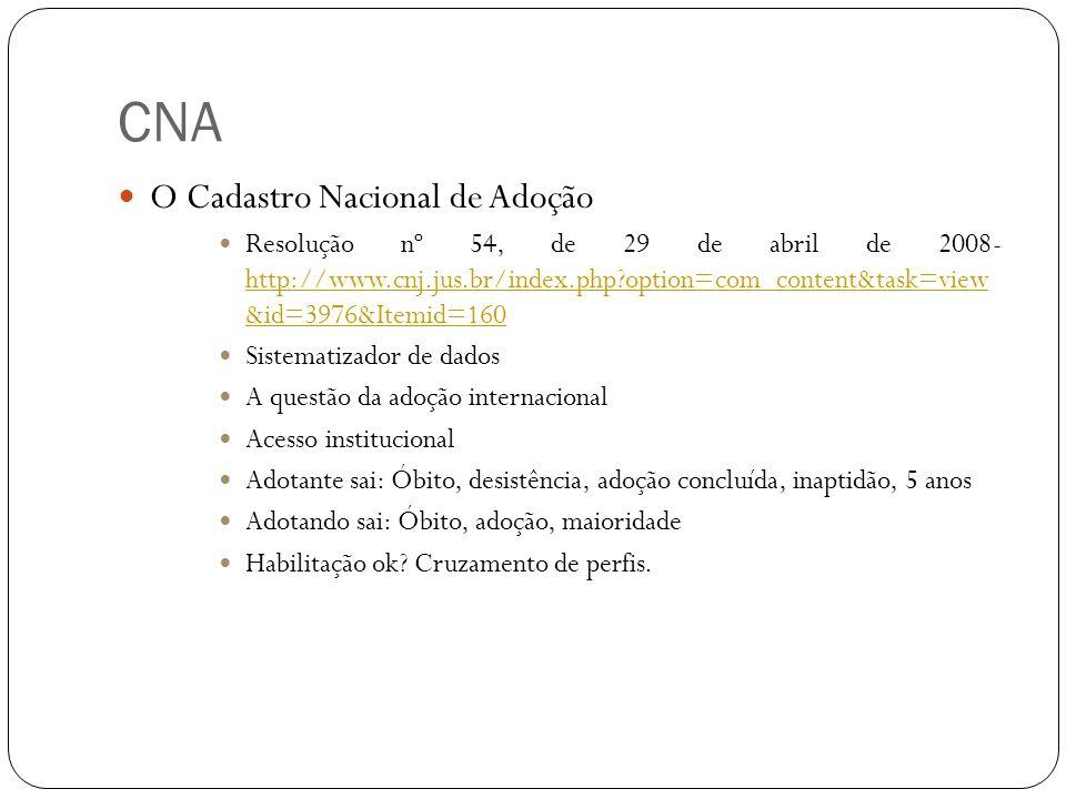 CNA O Cadastro Nacional de Adoção